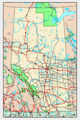 Detailed Alberta Map