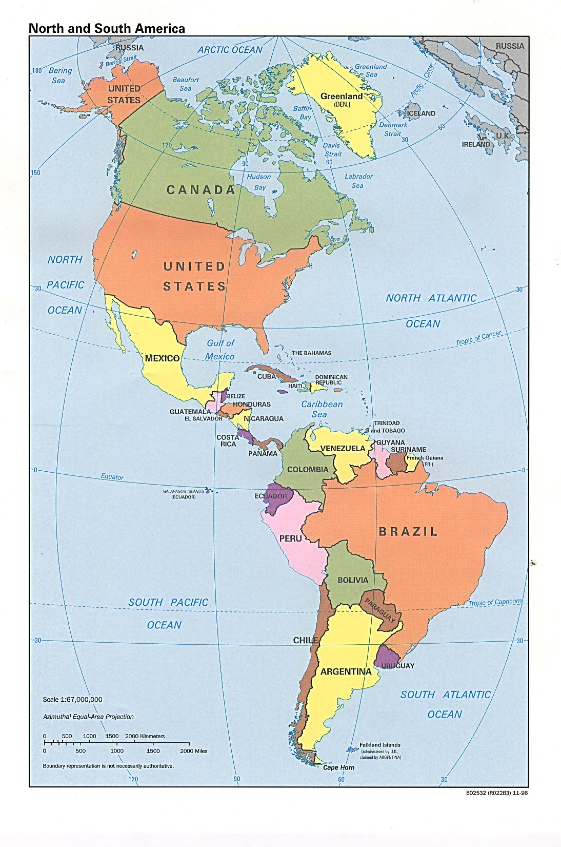 online map of americas political -  download fullsize map image map of americas political