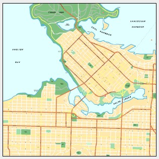Printable Map of Vancouver