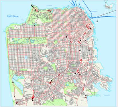 Printable Map of San Francisco, California