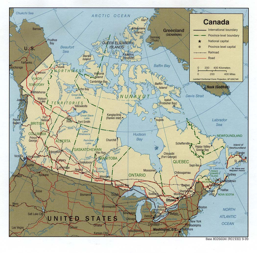 Image of: Online Map Of Canada Political