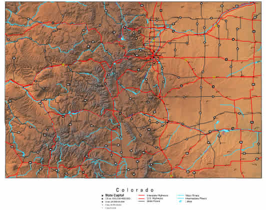 Printable Map of Colorado
