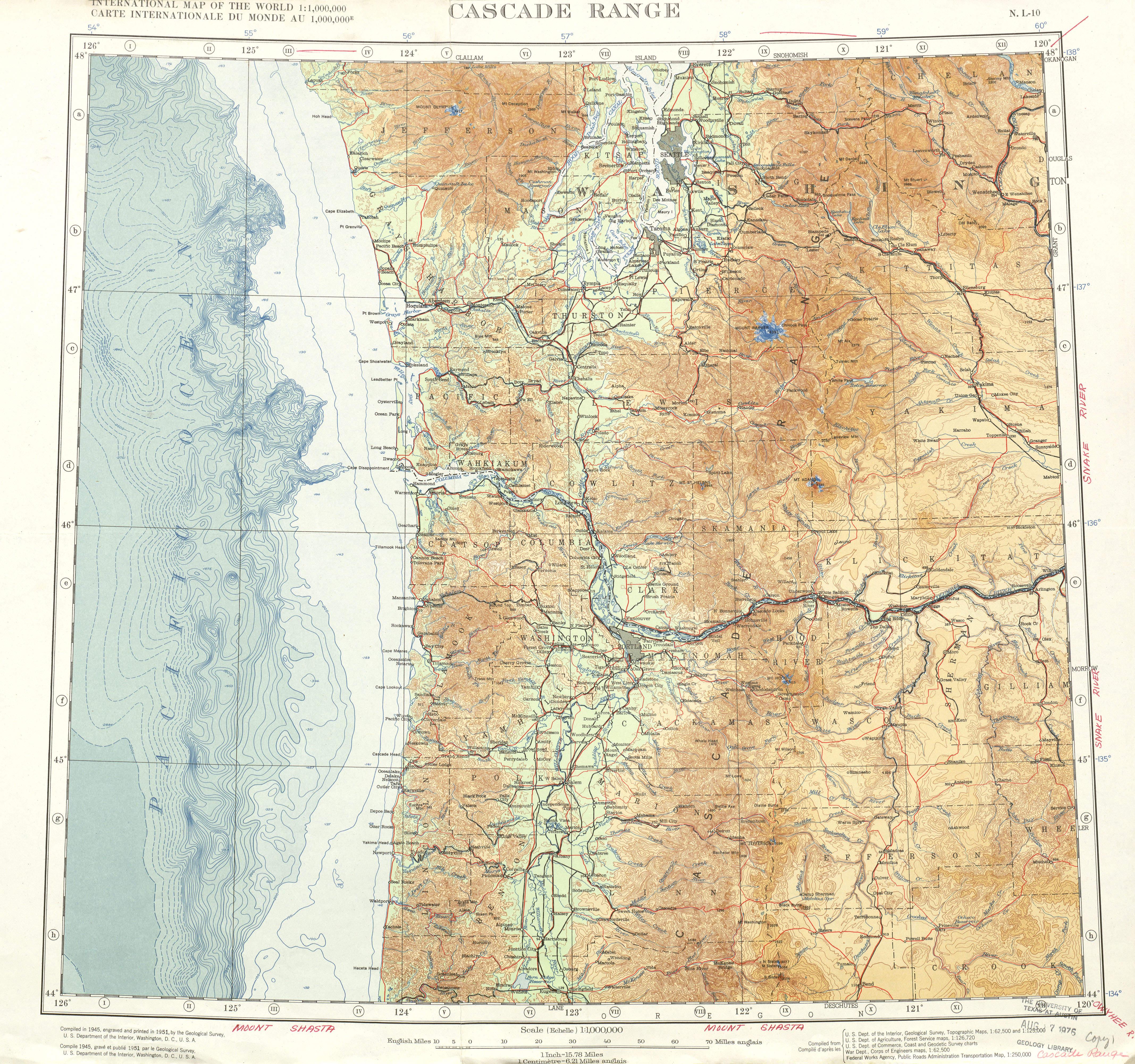 Cascade Range Map - View Online on
