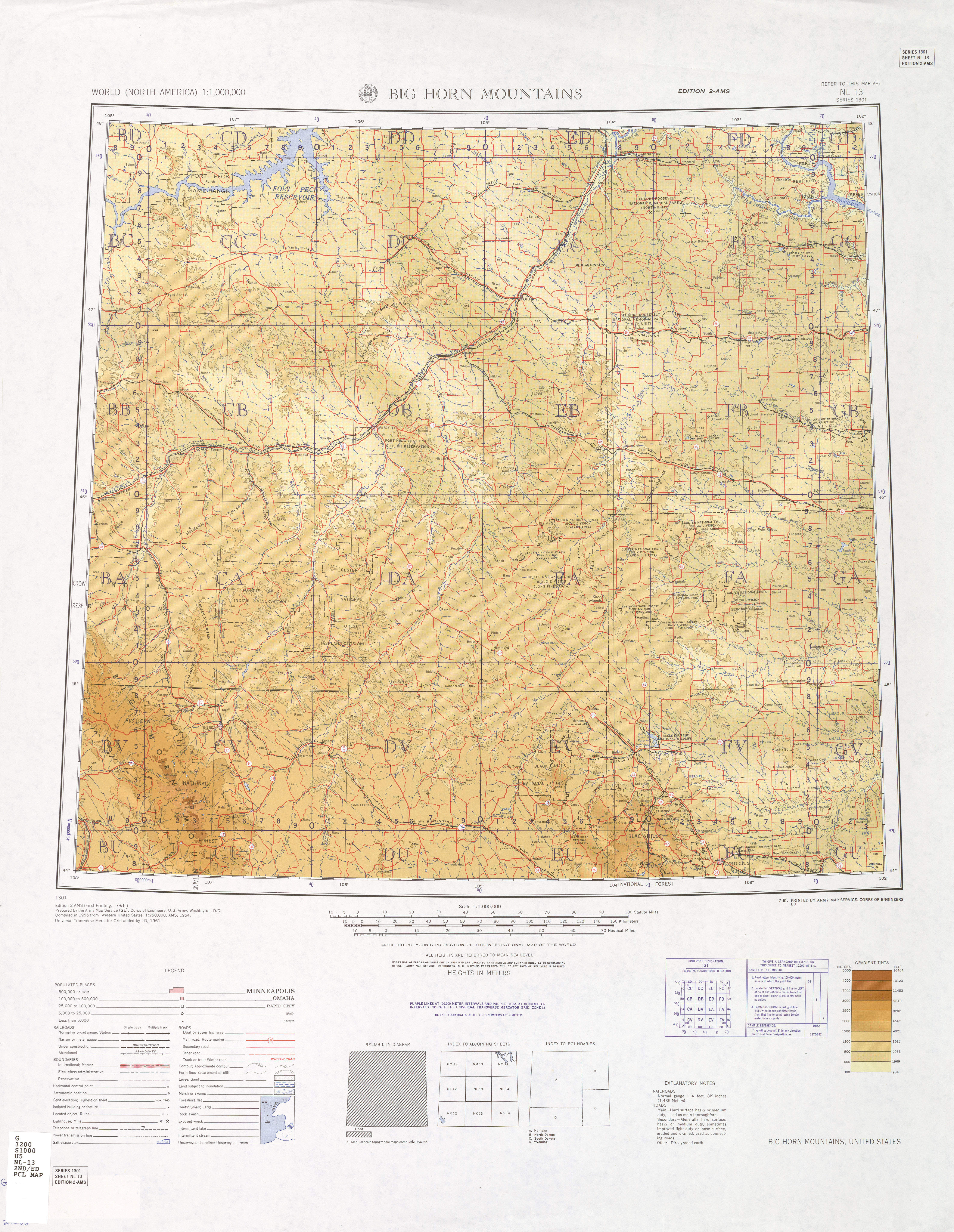 Big Horn Mountains Map View Online - Bighorn mountains map us