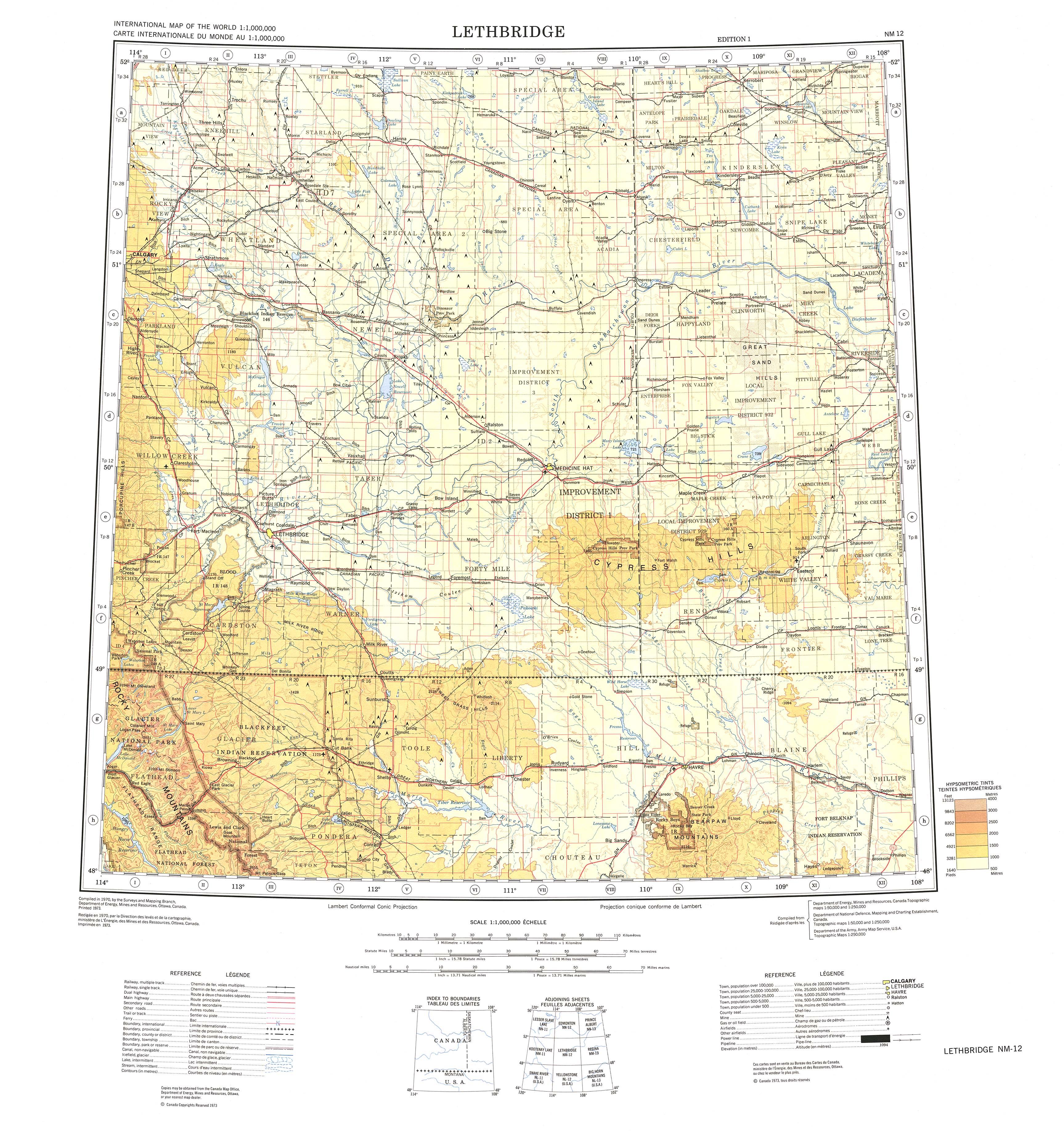 Lethbridge Map View Online