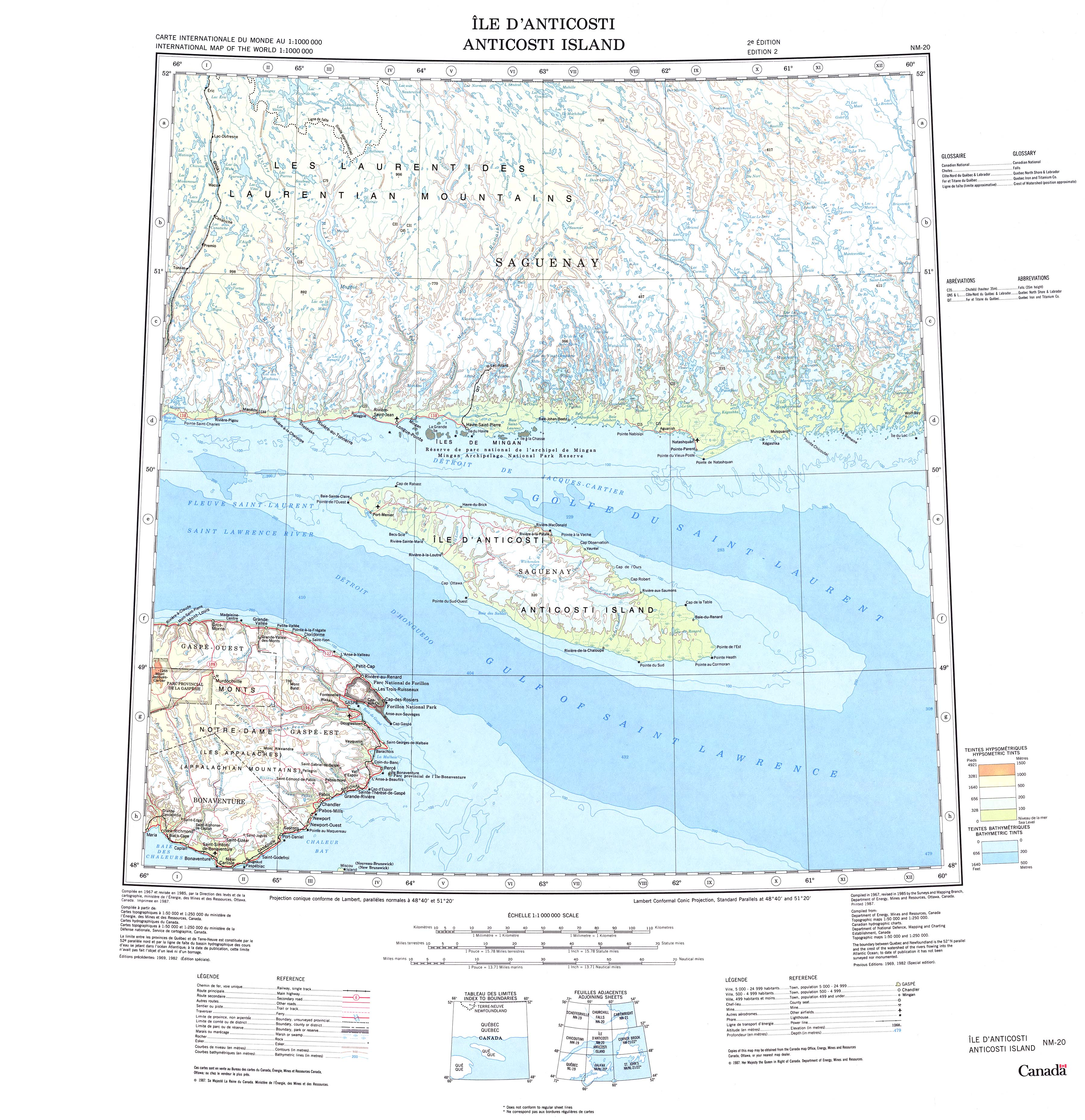 Anticosti Island Road Map