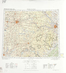 Ozark Plateau: International Map of the World IMW-nj-15