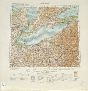 Lake Erie Map - IMW