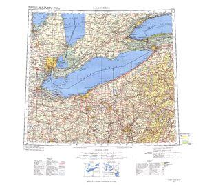Lake Erie: International Map of the World IMW-nk17