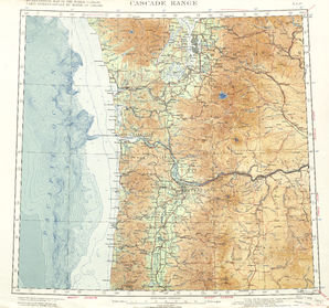 Cascade Range: International Map of the World IMW-nl-10