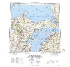 Lake Superior: International Map of the World IMW-nl16