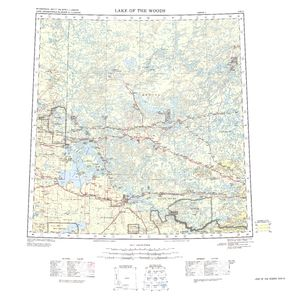 Lake of the Woods: International Map of the World IMW-nm15