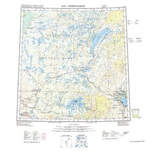 Lac Chibougamau: International Map of the World IMW-nm18