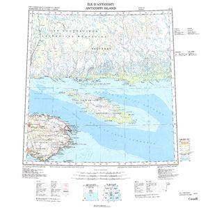 Ile d'Anticosti: International Map of the World IMW-nm20