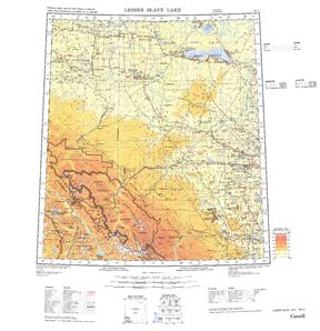 Lesser Slave Lake: International Map of the World IMW-nn11
