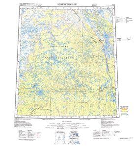 Schefferville: International Map of the World IMW-nn19