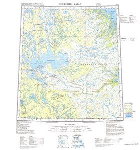 Churchill Falls: International Map of the World IMW-nn20