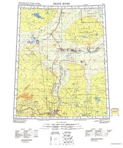 Peace River: International Map of the World IMW-no11