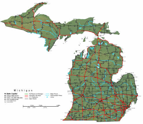 Online Map of Michigan