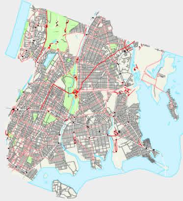 Printable Map of Bronx, New York