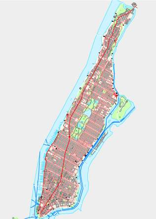 Detailed Map of Manhattan