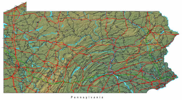 Detailed Pennsylvania Map