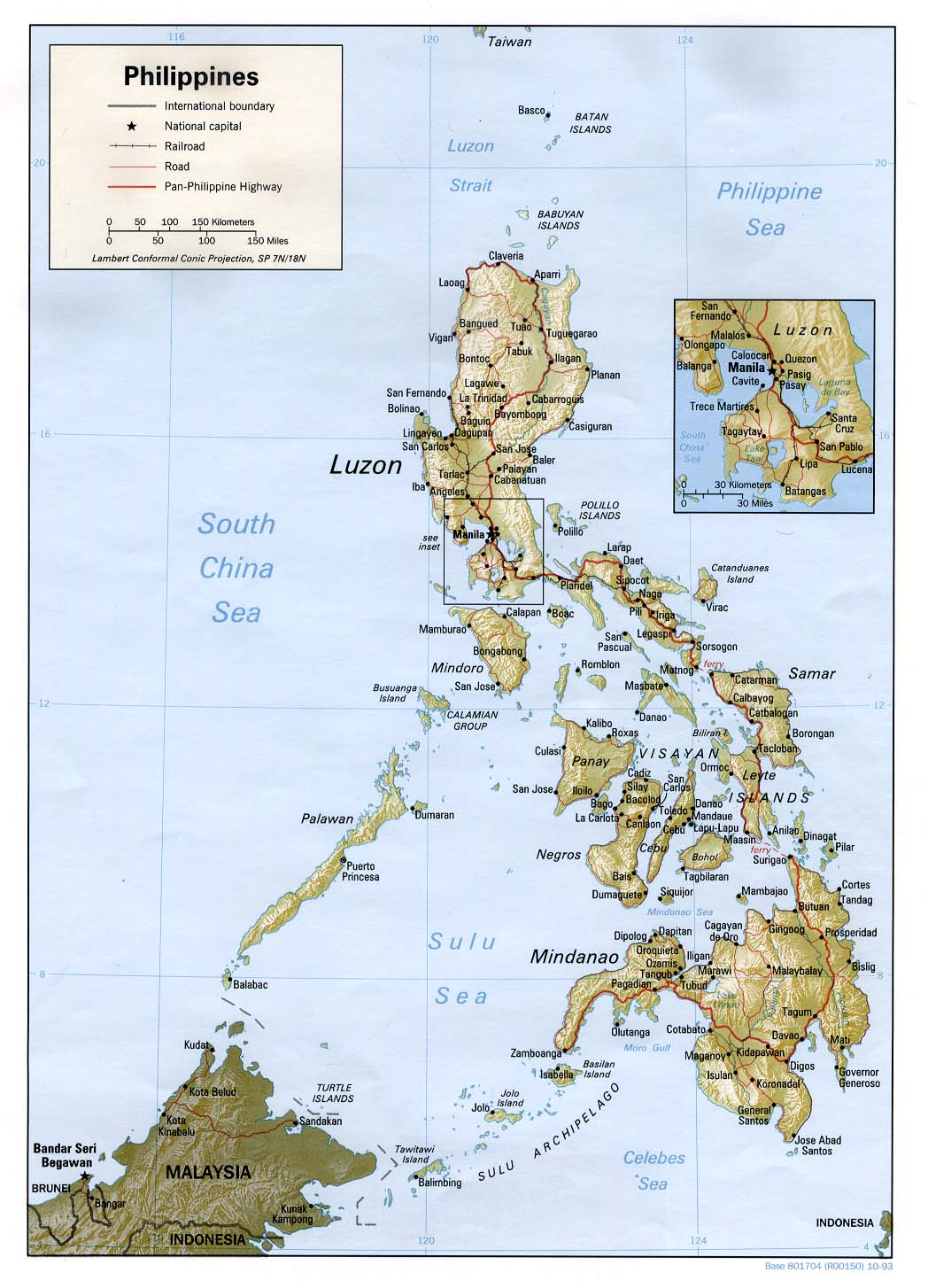 Printable Map of Philippines General Reference