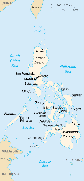 Printable Map of Philippines