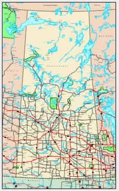 Detailed Saskatchewan Map