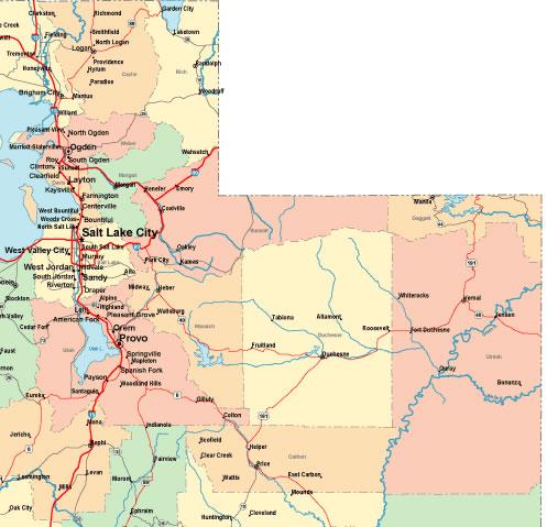 Eastern Utah Map | Map Of Us Western States