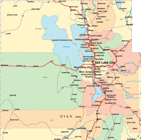 Online Map Of North Western Utah